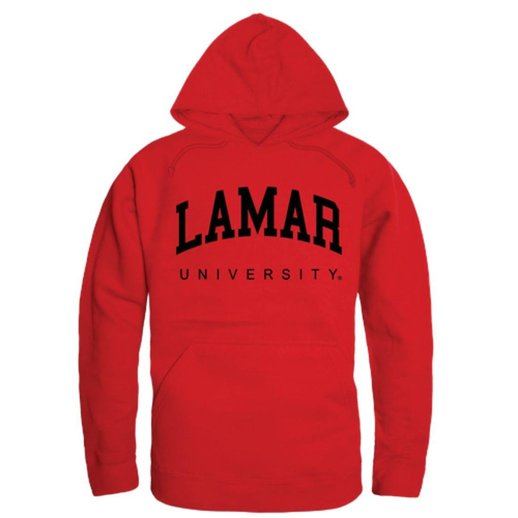 Lamar University College Hoodie Sweatshirt Red