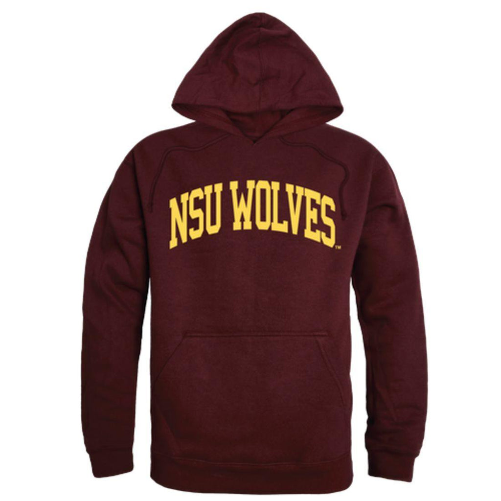 NSU Northern State University Wolves College Hoodie Sweatshirt Maroon