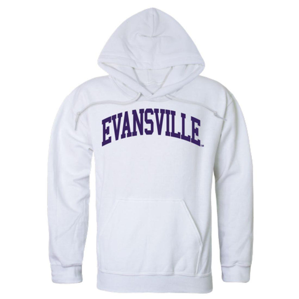 University of Evansville Purple Aces College Hoodie Sweatshirt White