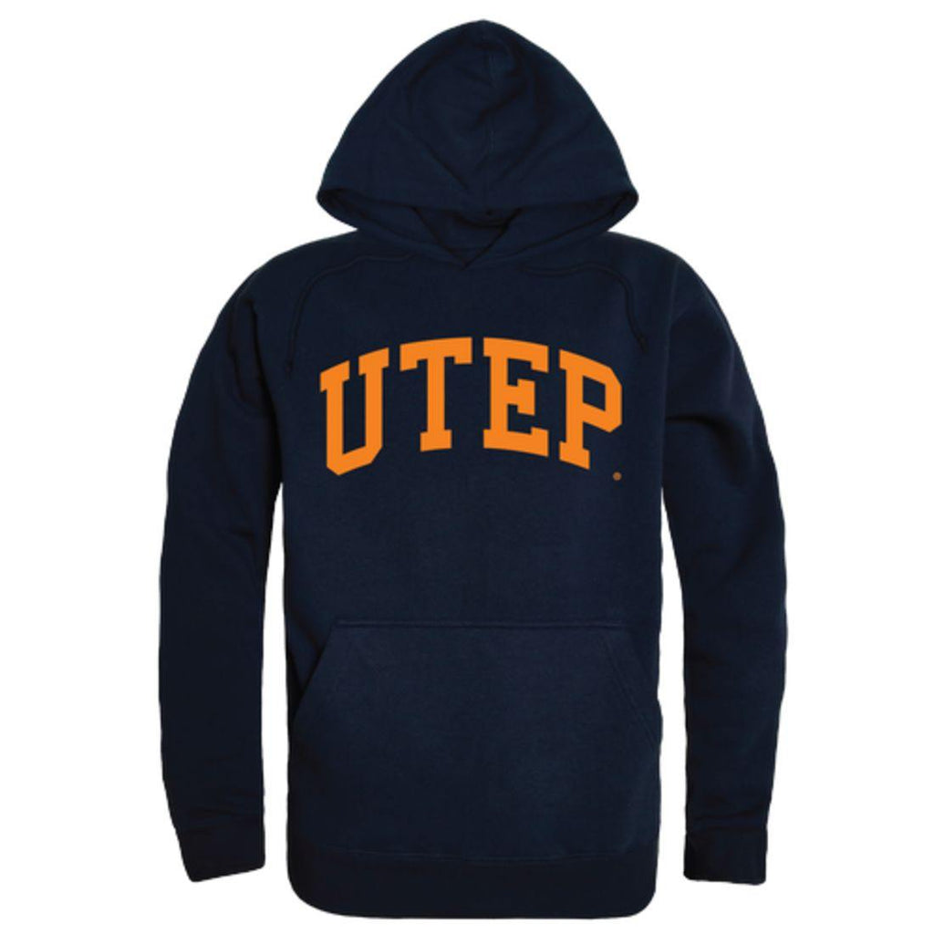 UTEP University of Texas at El Paso Miners College Hoodie Sweatshirt Navy