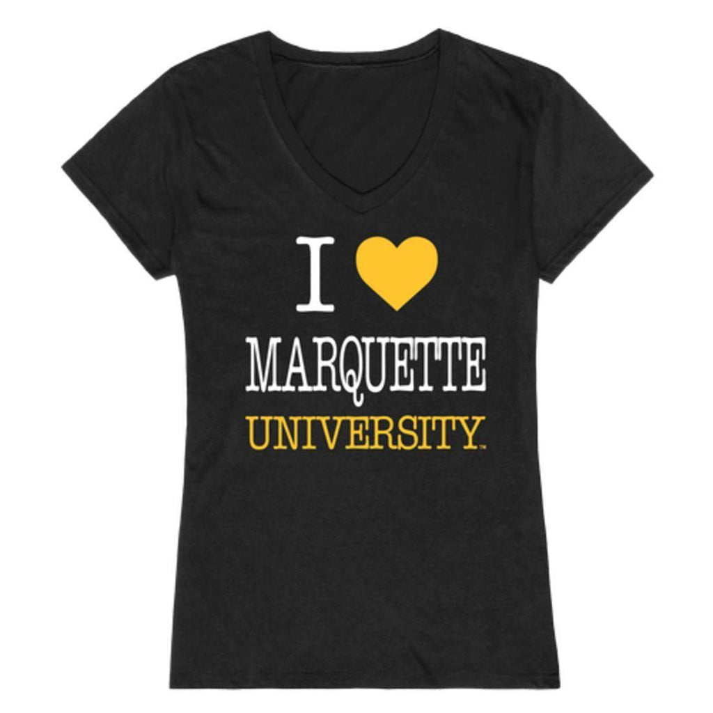 I Love Marquette University Golden Eagles Womens T-Shirt