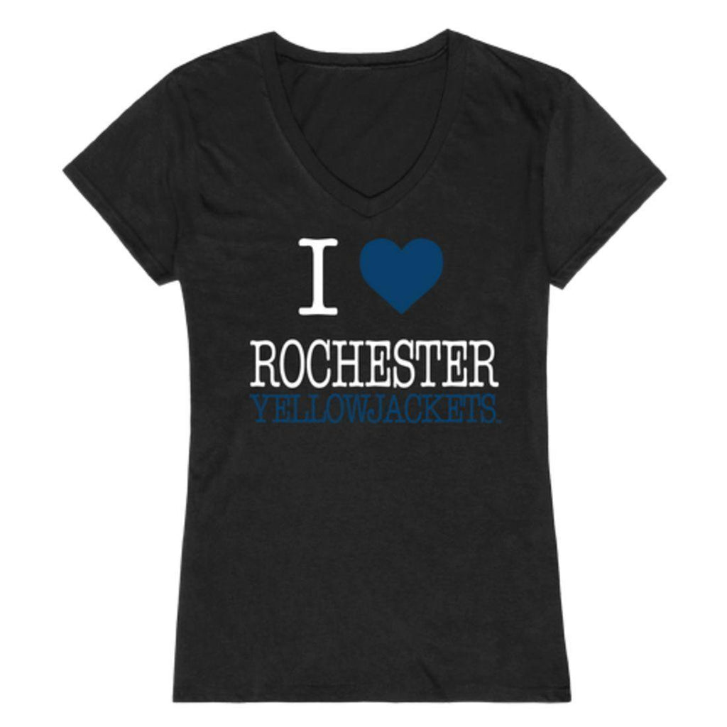 I Love University of Rochester Yellowjackets Womens T-Shirt