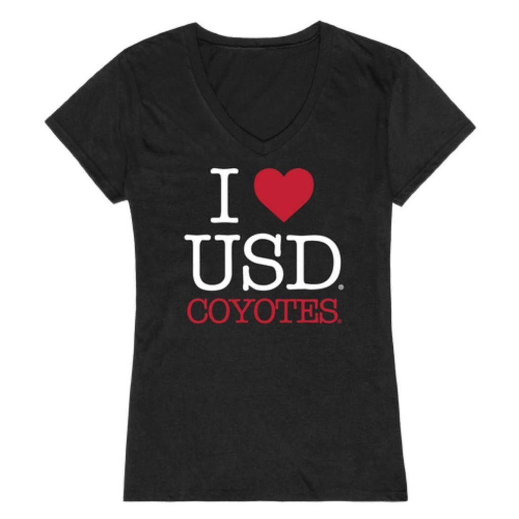 I Love USD University of South Dakota Coyotes Womens T-Shirt