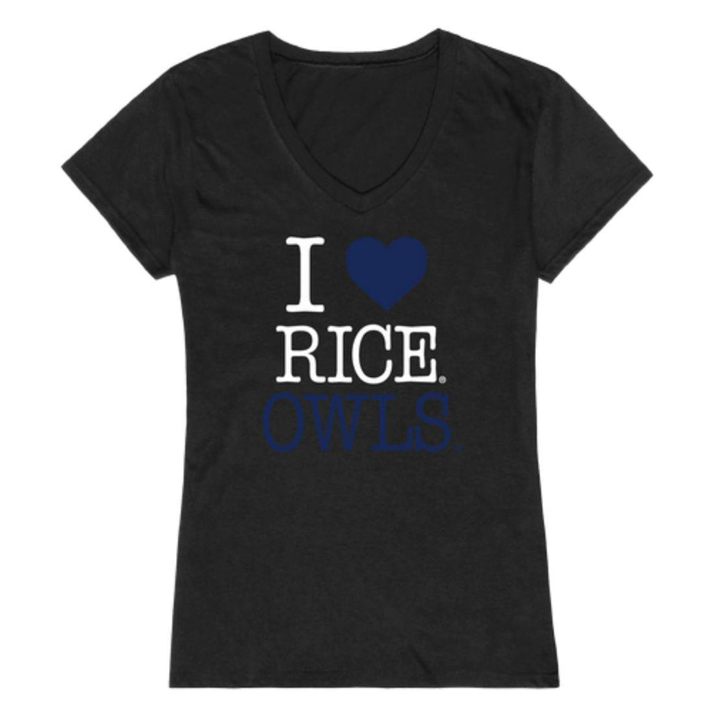 I Love Rice University Owls Womens T-Shirt