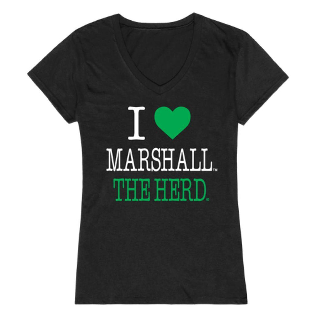 I Love Marshall University Thundering Herd Womens T-Shirt