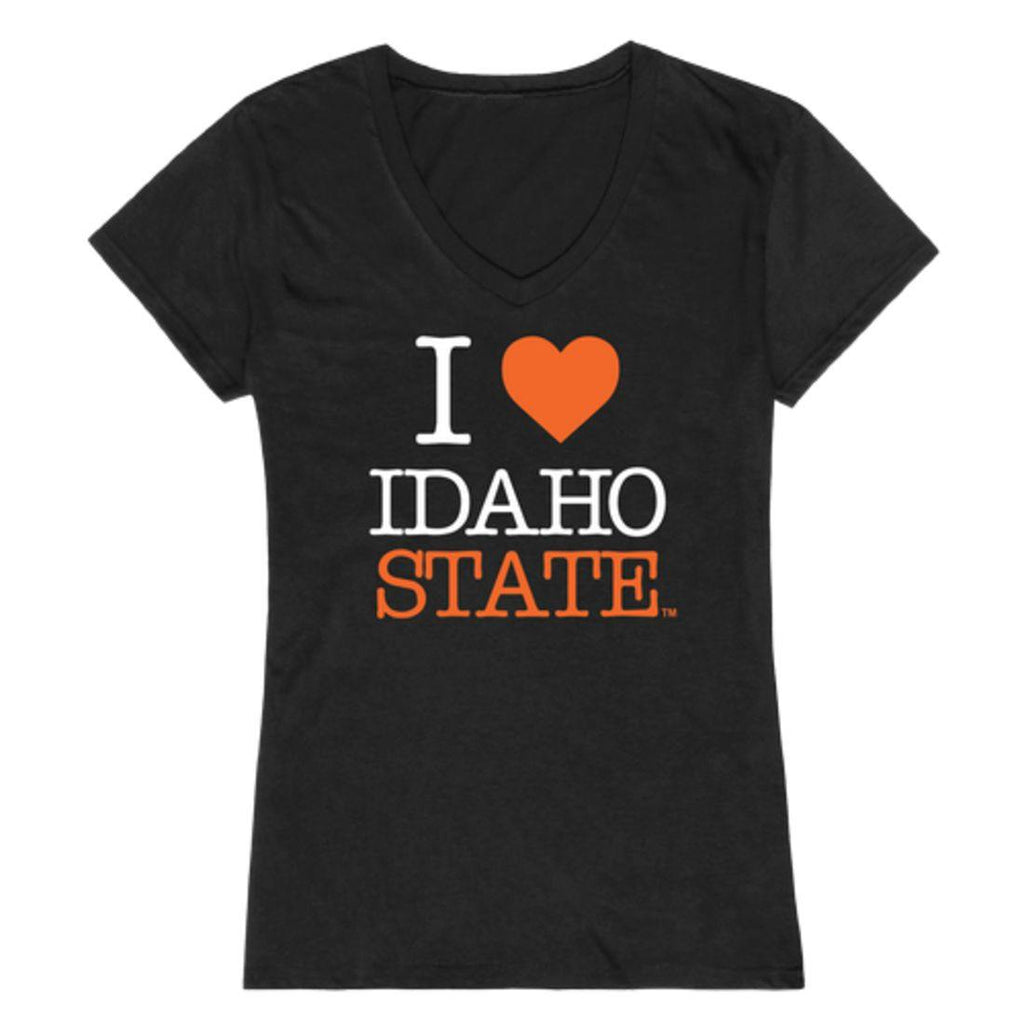 I Love ISU Idaho State University Bengals Womens T-Shirt