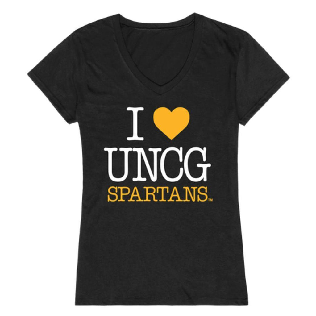 I Love UNCG University of North Carolina at Greensboro Spartans Womens T-Shirt
