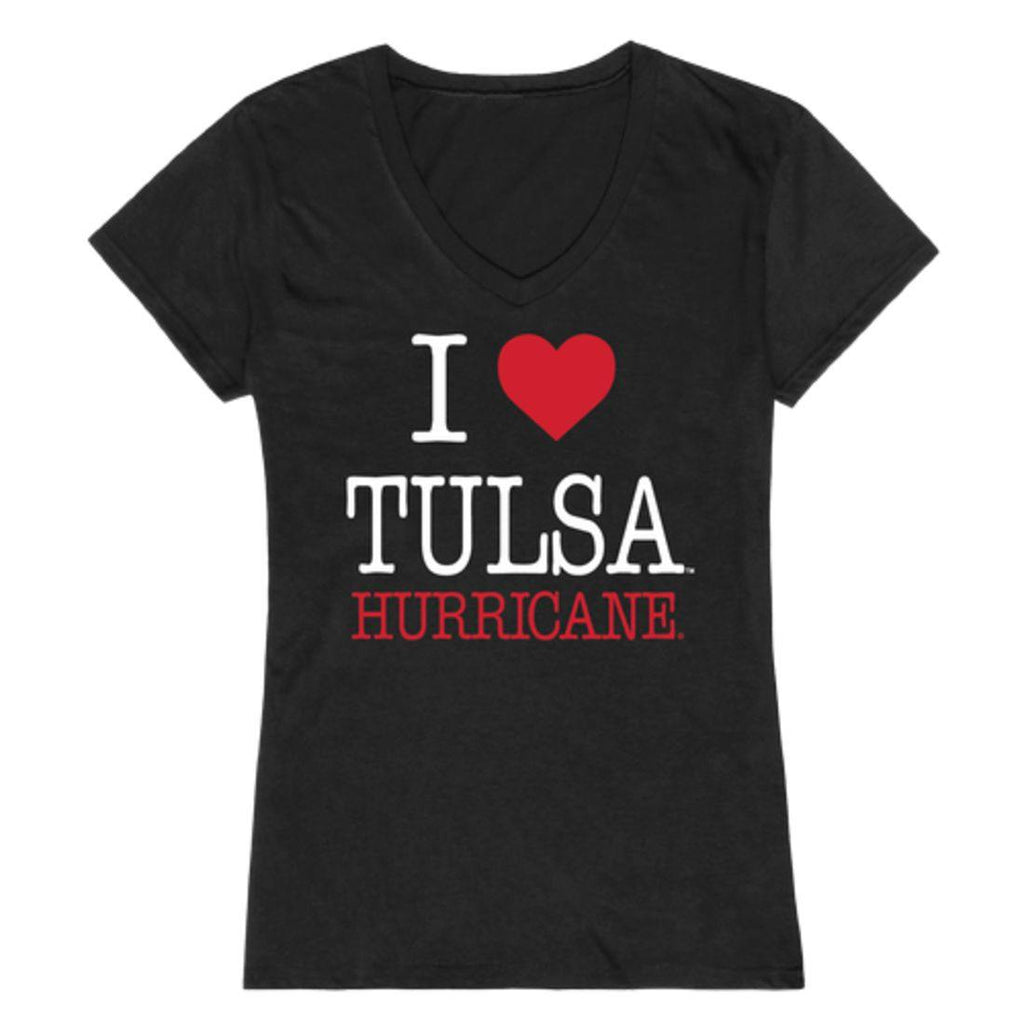 I Love University of Tulsa Golden Golden Hurricane  Womens T-Shirt