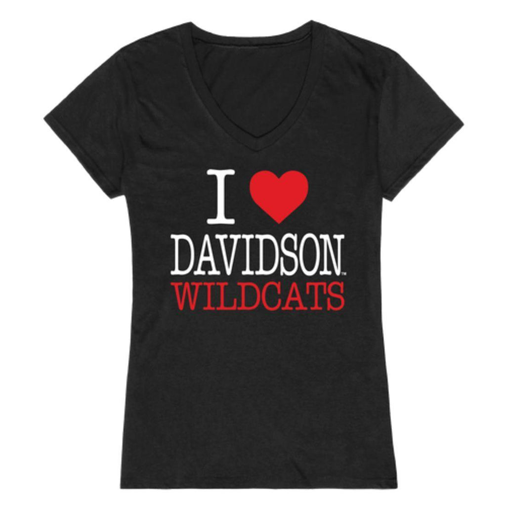 I Love Davidson College Wildcats Womens T-Shirt