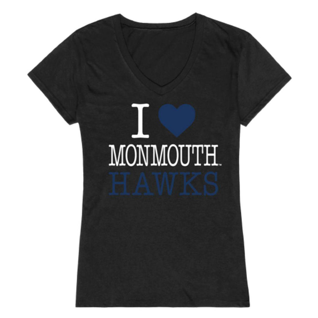I Love Monmouth University Hawks Womens T-Shirt