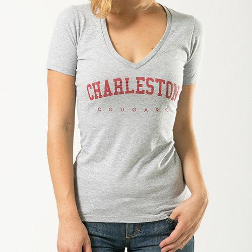 Charleston College Cougars NCAA Game Day W Republic Womens Tee T-Shirt