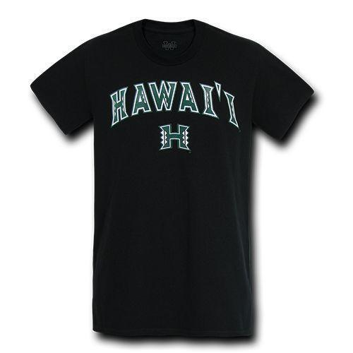 Hawaii University NCAA Freshman Tee T-Shirt Unisex W Republic Black
