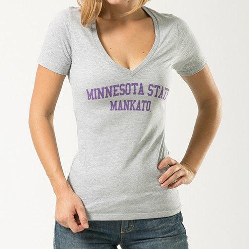 Mankato Minnesota State University NCAA Game Day W Republic Womens Tee T-Shirt