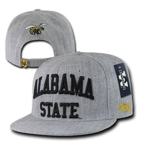 NCAA Alabama State University Hornets Game Day Snapback Caps Hats Heather  Grey 9d95fd8fab89