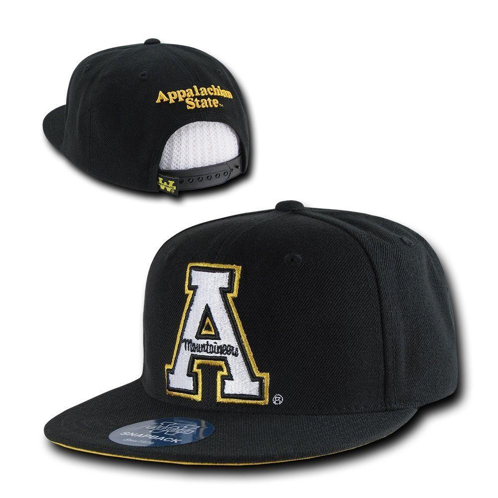 NCAA Appalachian State Mountaineers 6 Panel Snapback Baseball Caps Hats
