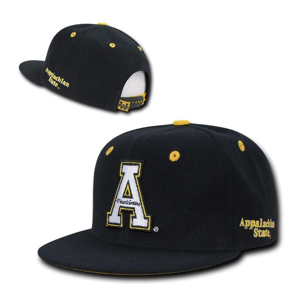NCAA Appalachian State Mountaineers Flat Bill Accent Snapback Baseball Caps Hats