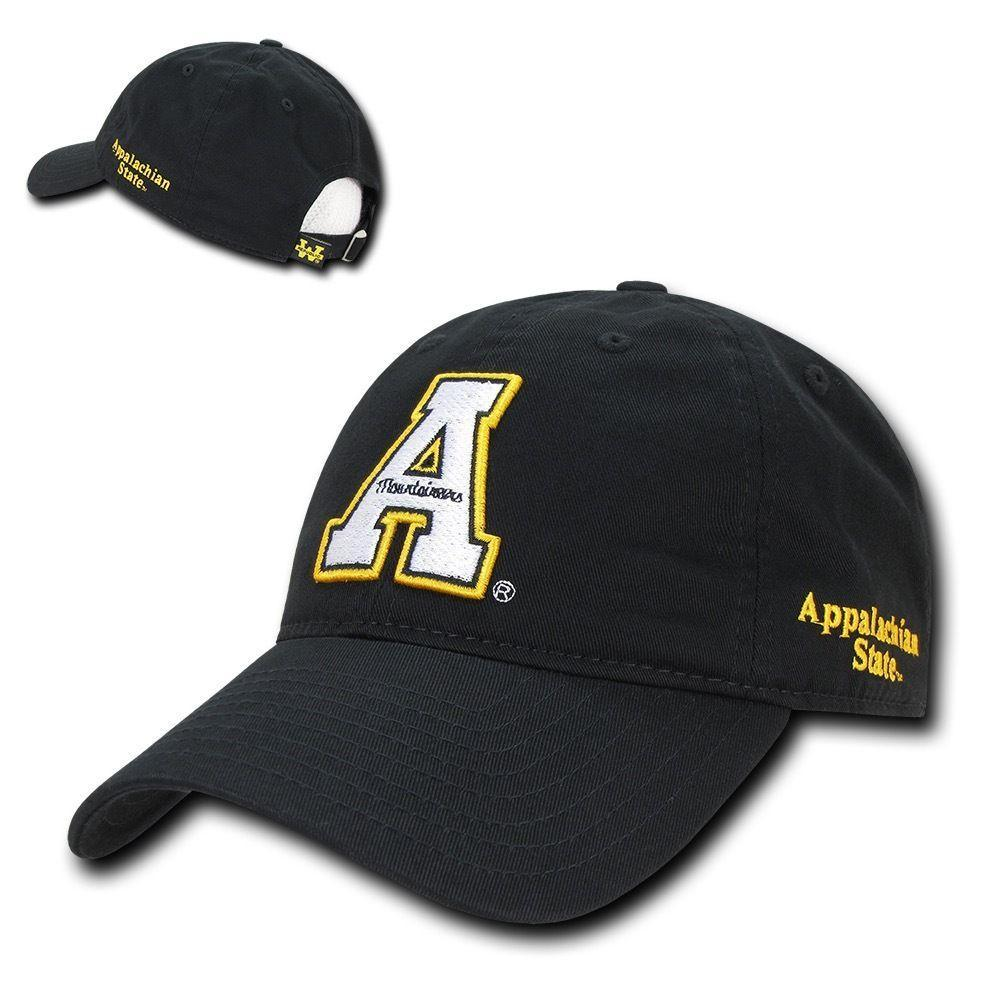 NCAA Appalachian State Mountaineers Relaxed Cotton Baseball Caps Hats