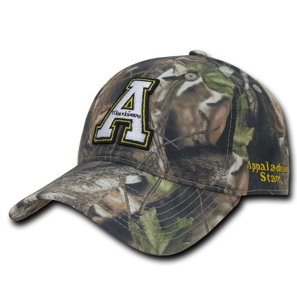 NCAA Appalachian State Mountaineers Relaxed Hybricam Camouflage Camo Caps Hats
