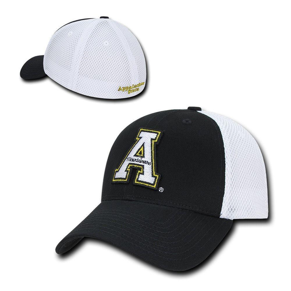 NCAA Appalachian State Mountaineers Structured Mesh Flex Baseball Caps Hats