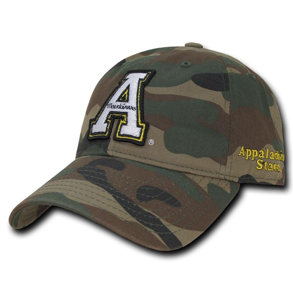 NCAA Appalachian State University Mountaineers Relaxed Camo Baseball Caps Hats