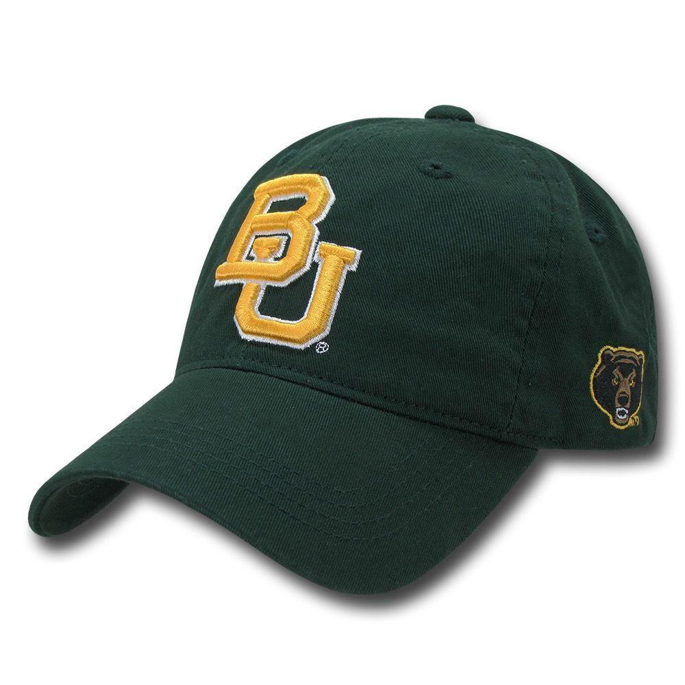 NCAA Baylor Bears University 6 Panel Relaxed Cotton Baseball Caps Hats Green