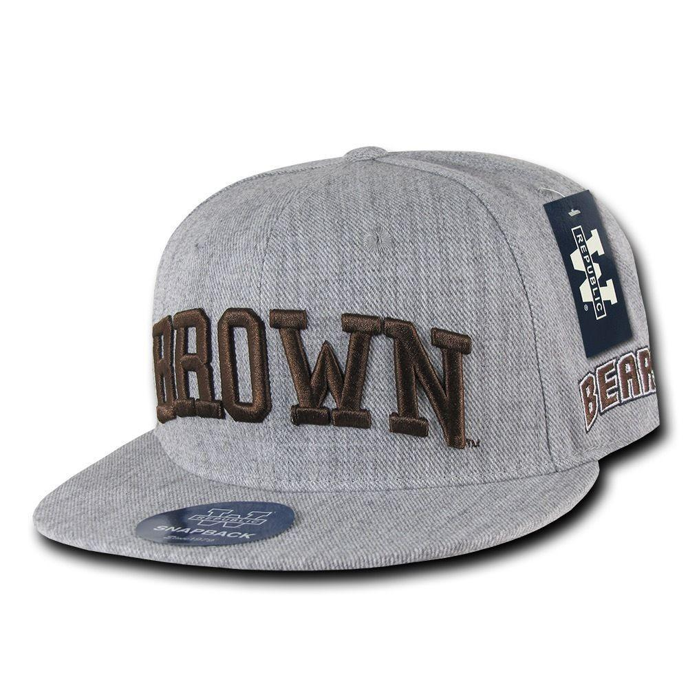 NCAA Brown Bears University Bears 6 Panel Game Day Snapback Caps Hats Heather
