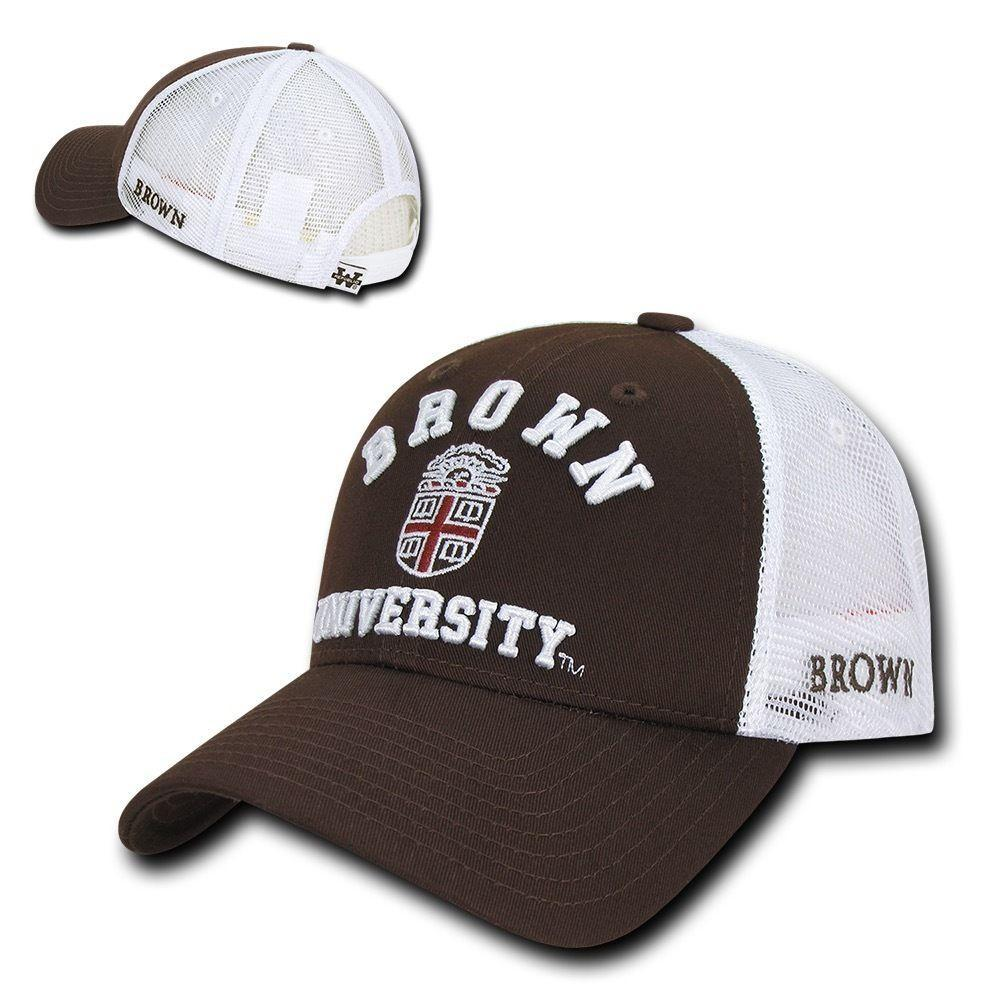 NCAA Brown Bears University Cotton Structured Trucker Baseball Caps Hats