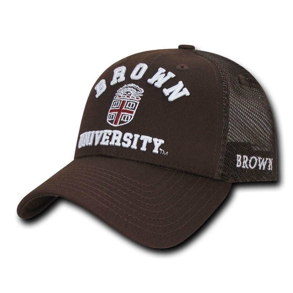 NCAA Brown Bears University Curved Bill Structured Trucker Baseball Caps Hats