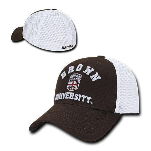 NCAA Brown University Structured Mesh Flex Baseball Caps Hats