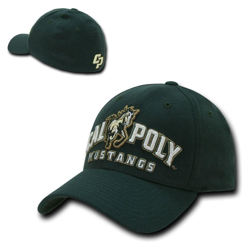 NCAA Cal Poly Mustangs University Low Constructed Flex Acrylic Caps Hats