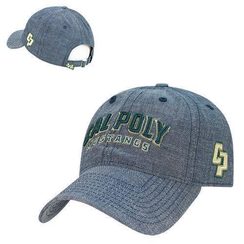 NCAA Cal State Poly University Relaxed Denim Caps Hats Blue
