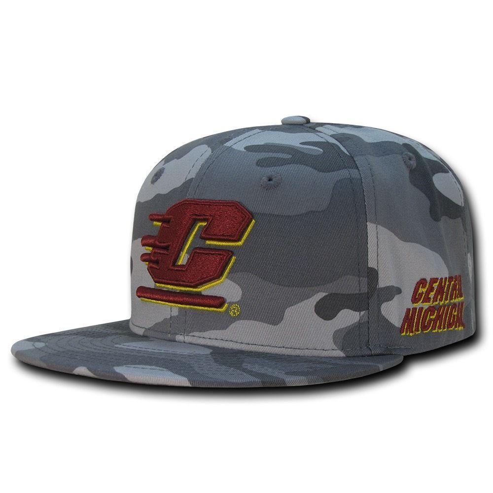 NCAA Cmu Central Michigan Chippewas Camo Camouflage Baseball Caps Hats