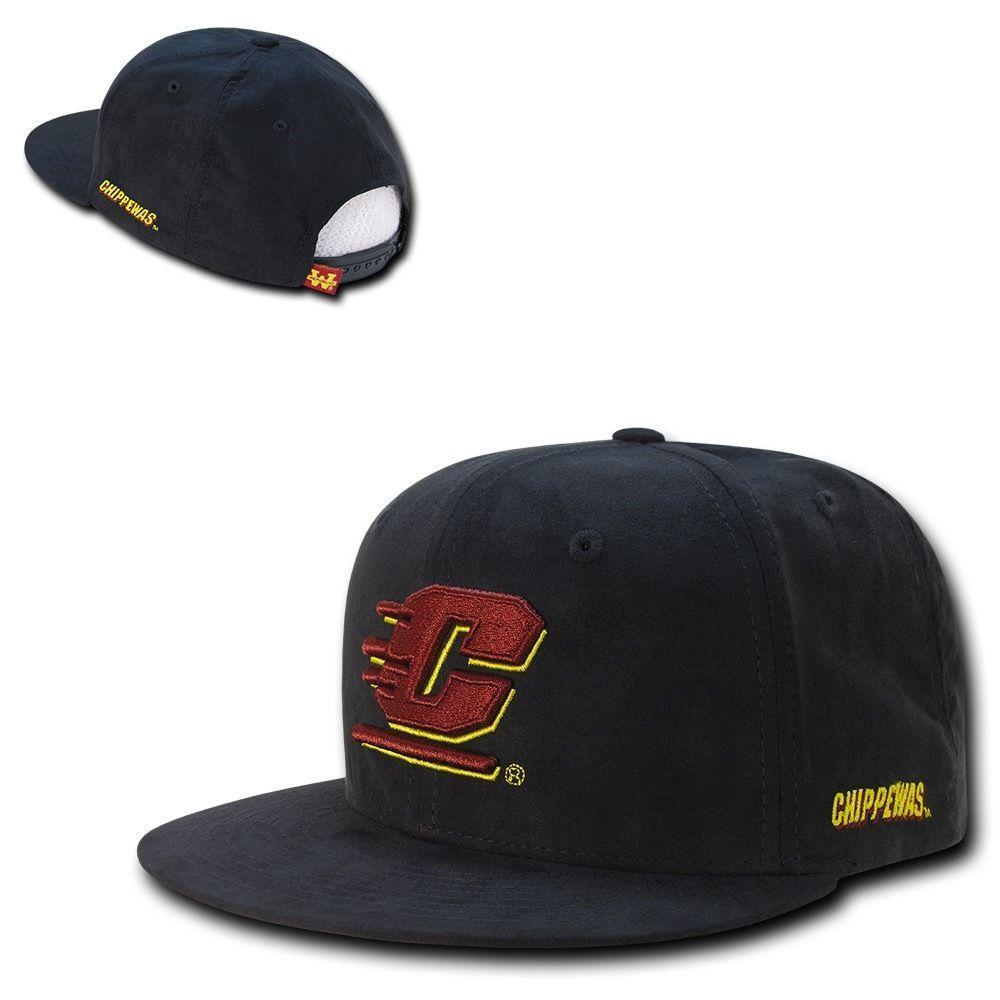 NCAA Cmu Central Michigan Chippewas University Faux Suede Snapback Caps Hats