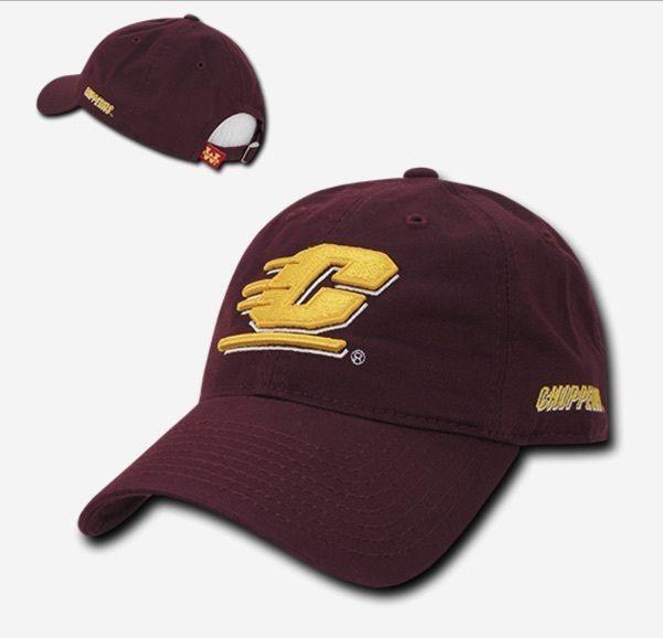 NCAA Cmu Central Michigan University Chippewas Relaxed Cotton Baseball Caps Hat