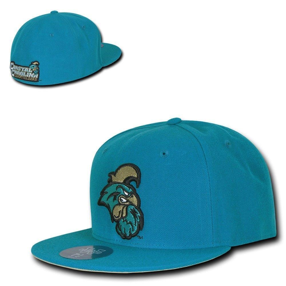 Coastal Carolina University CCU NCAA Fitted Flat Bill Baseball Cap Hat