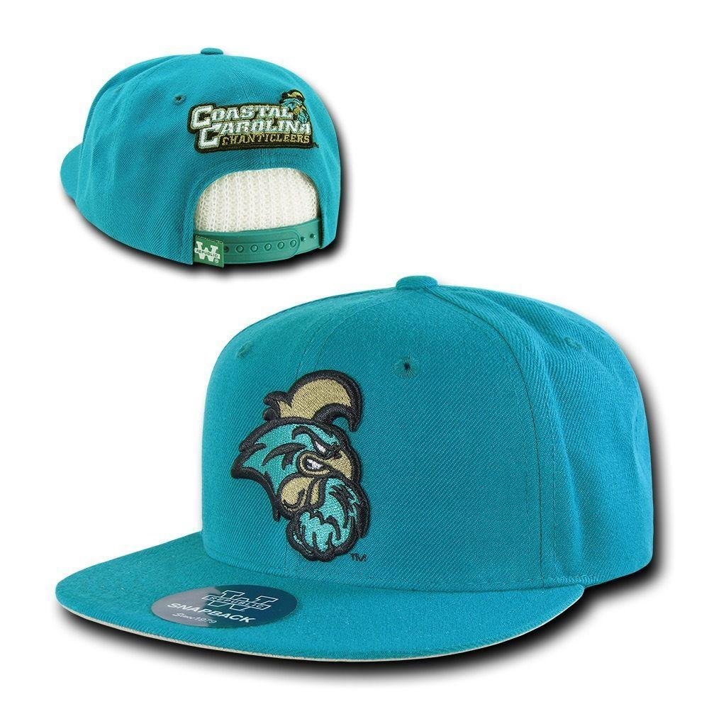 NCAA Coastal Carolina Chanticleers University Snapback Baseball Caps Hats Teal