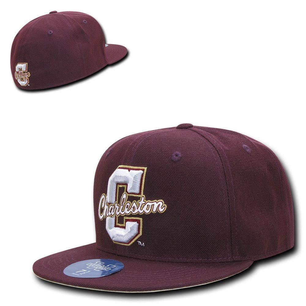 NCAA College Of Charleston Fitted Caps Hats Maroon