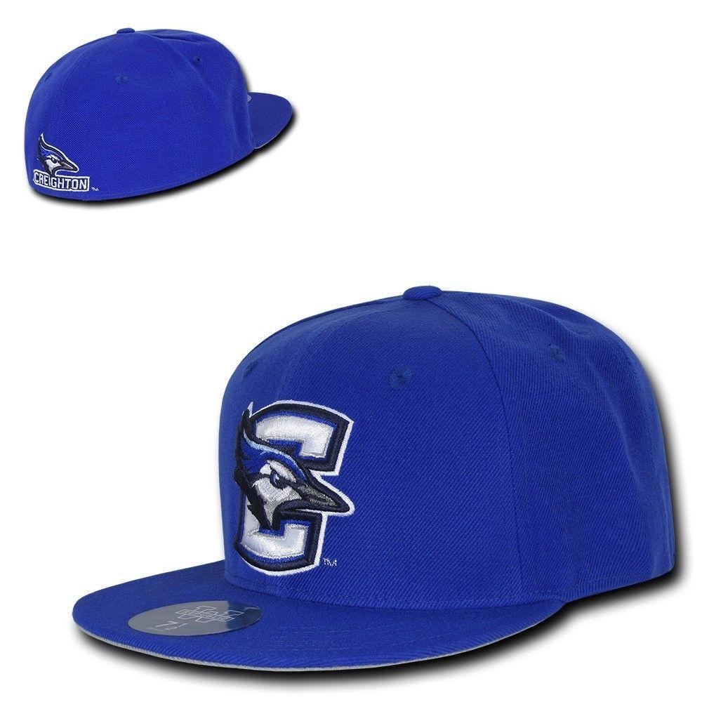 NCAA Creighton Bluejays University College Fitted Caps Hats Royal