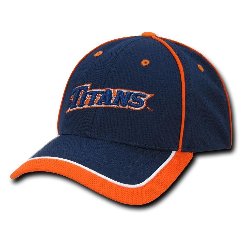 NCAA Csu Fullerton Cal State University Titans Structured Piped Baseball Caps