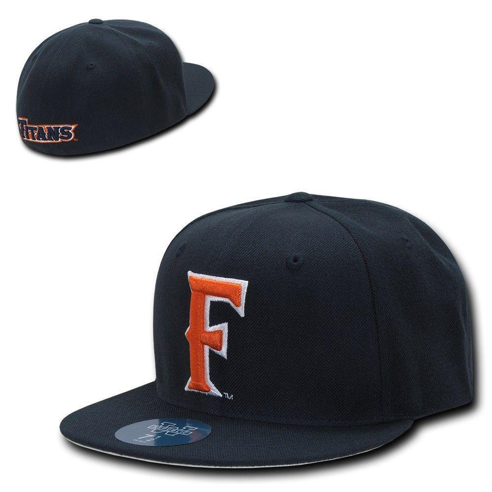 NCAA Csuf Cal State Fullerton Titans University Fitted Embroidery Caps Hats