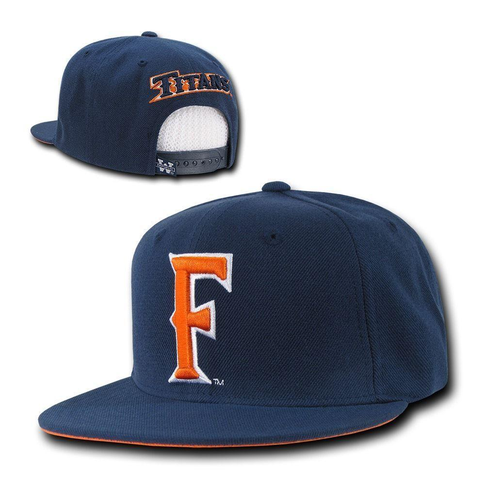 NCAA Csuf Cal State Fullerton Titans University Snapback Caps Hats Navy Orange