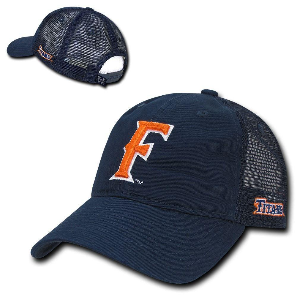 NCAA Csuf Fullerton Cal State University Titans Relaxed Mesh Trucker Caps Hats