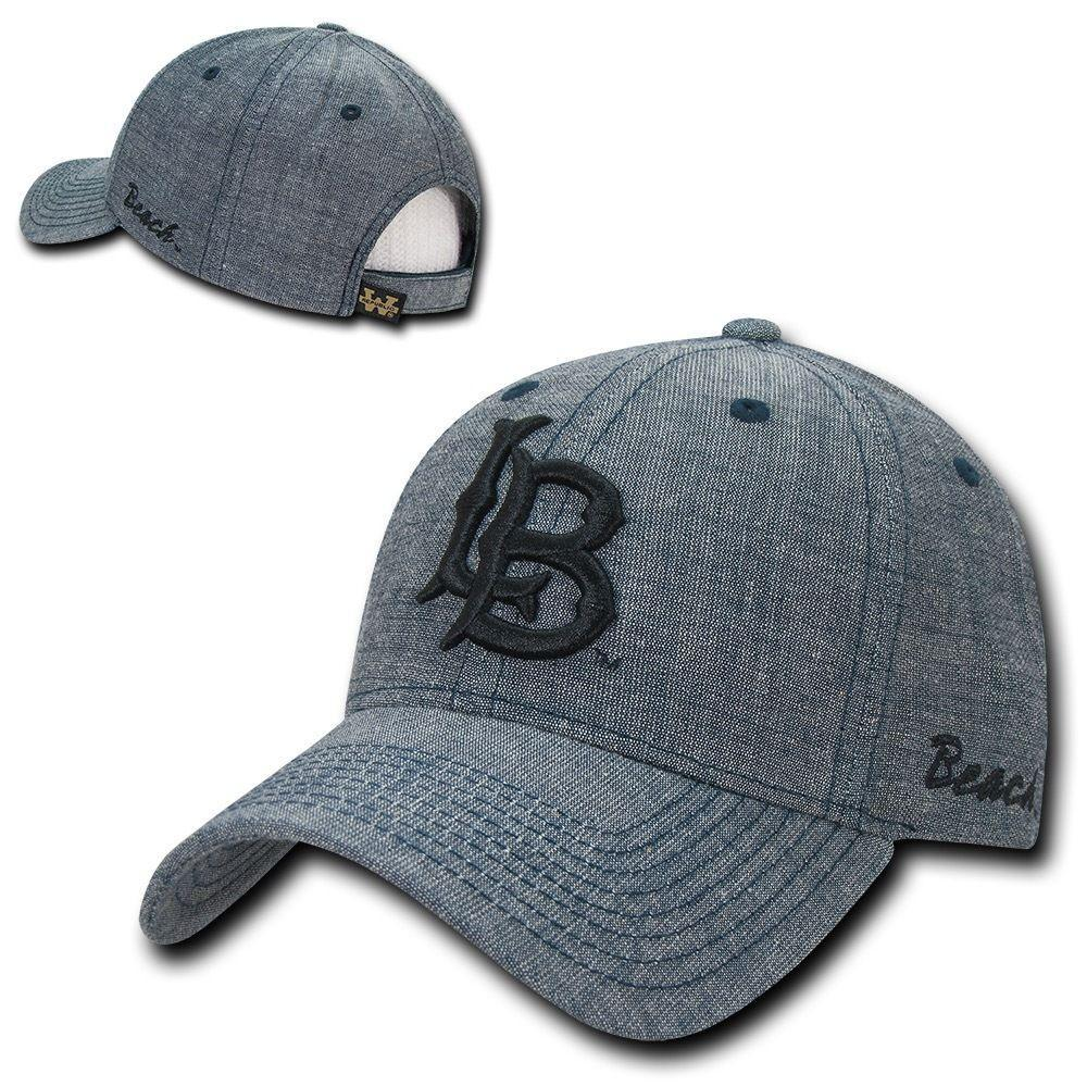 NCAA Csulb Long Beach State 49Ers Cal State Structured Denim Caps Hats Blue
