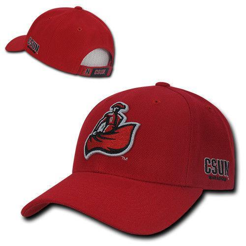 NCAA Csun Cal State Northridge Structured Acrylic Baseball 6 Panels Caps Hats