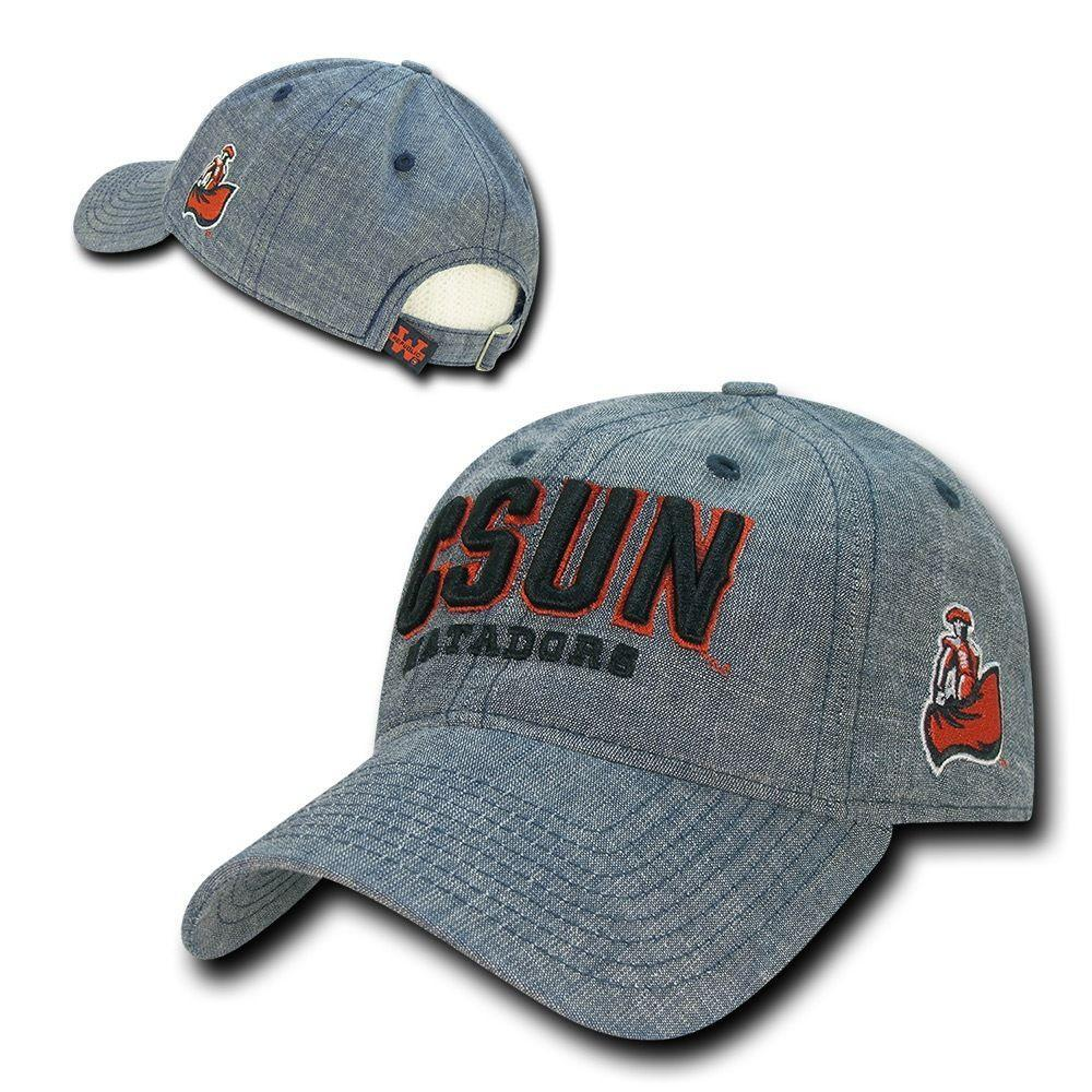 NCAA Csun Cal State Northridge University Matadors Relaxed Denim Caps Hats Blue