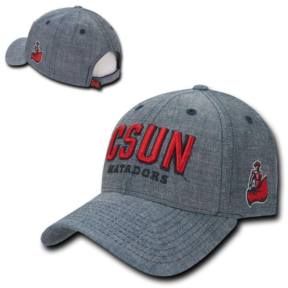 NCAA Csun Cal State Northridge University Matadors Structured Denim Caps Blue
