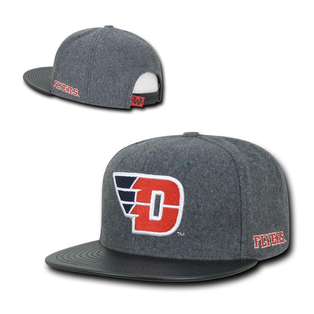 NCAA Dayton University Flyers Melton Vinyl Snapback Baseball Caps Hats