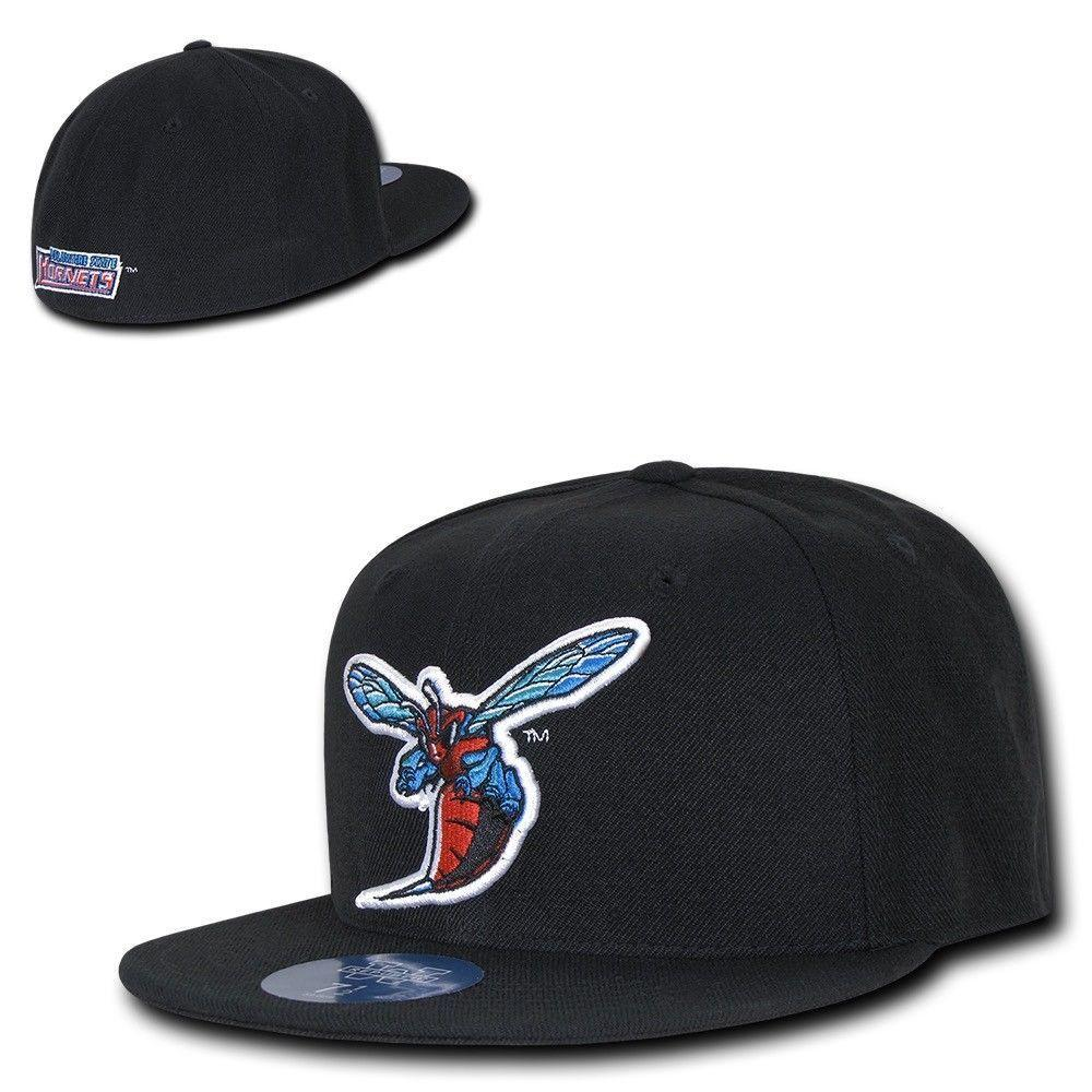 NCAA Delaware State University Hornets College Fitted Caps Hats Black