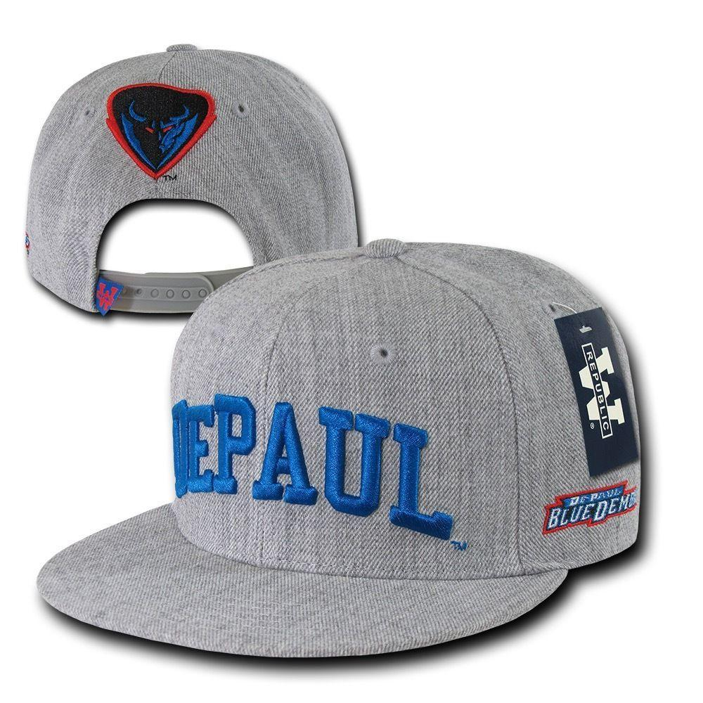 NCAA Depaul University Blue Demons 6 Panel Game Day Snapback Caps Hats Hgry
