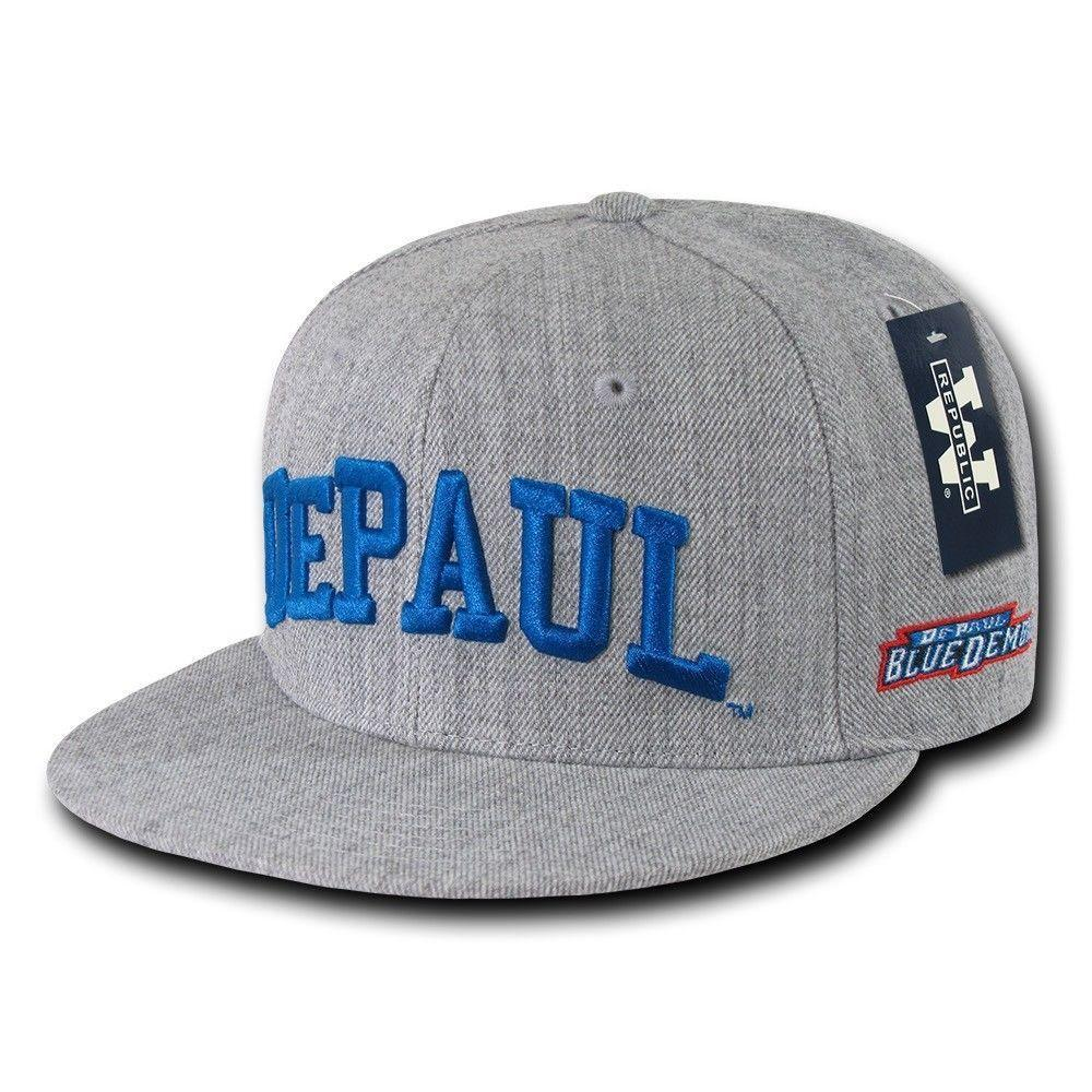 NCAA Depaul University Blue Demons Game Day Fitted Caps Hats